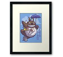 Totoro in Flight Framed Print
