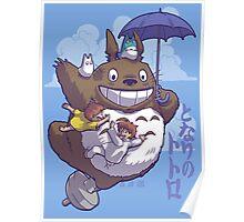 Totoro in Flight Poster