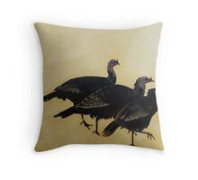Rafter of Turkeys, 2015 Throw Pillow