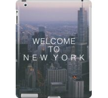 Welcome To New York iPad Case/Skin