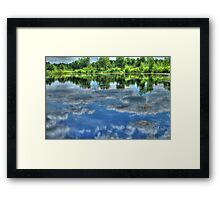 Reflections of a Summer Sky Framed Print
