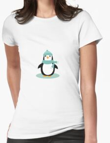 AFE Christmas Penguin Womens Fitted T-Shirt
