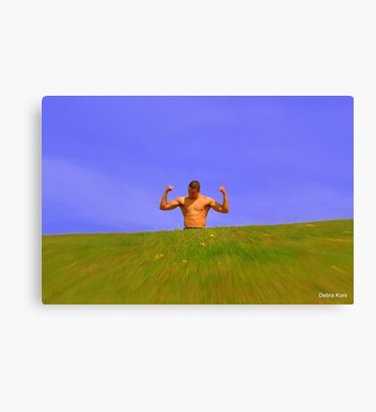 Muscle man in sunshine  Canvas Print