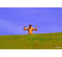 Muscle man in sunshine  Photographic Print