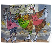 Fowl Play Series: Roller Derby Chicks Poster