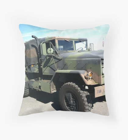 Tiger Taxi Throw Pillow