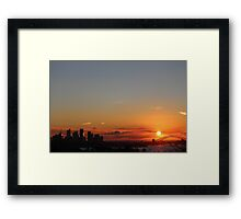 Sydney in orange Framed Print