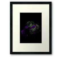 Paint Splatter TMNT : Donatello Framed Print