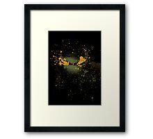 Paint Splatter TMNT : Michelangelo Framed Print