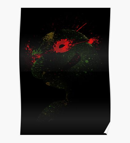 Paint Splatter TMNT : Raphael Poster