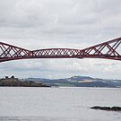 Forth Rail Bridge and Inch Garvie by AmandaJanePhoto