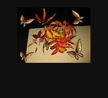 Autumn leaves and butterflies. Unisex T-Shirt