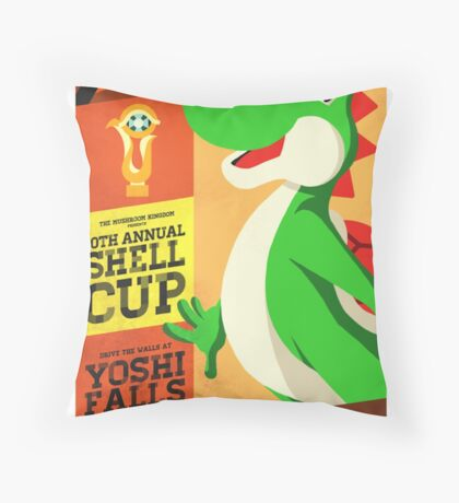Yoshi Mario Kart Throw Pillow