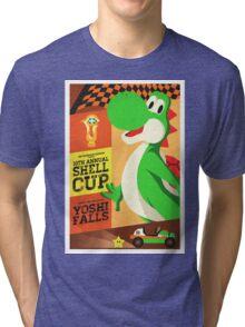 Yoshi Mario Kart Tri-blend T-Shirt