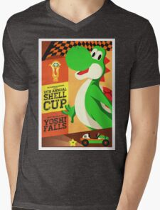 Yoshi Mario Kart Mens V-Neck T-Shirt