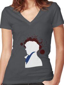 Fallen Sherlock (dark) Women's Fitted V-Neck T-Shirt
