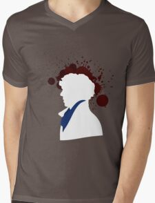 Fallen Sherlock (dark) Mens V-Neck T-Shirt