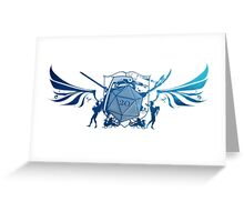 Dice 20 Coat of Arms Greeting Card
