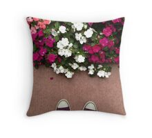 Asphalt, Petals, Converse and Laces Throw Pillow