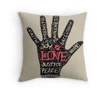 Possitive hand drawing or illustration Throw Pillow