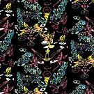 Neon Doodle Print by mik3hunt