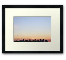 Sydney at sunset Framed Print
