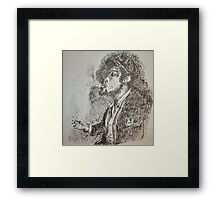 Slouched and Smoking  Framed Print
