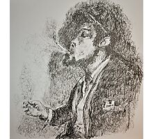 Slouched and Smoking  Photographic Print