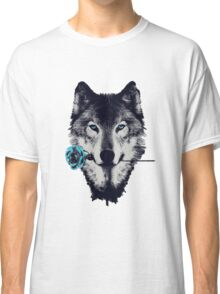 Wolf With a Rose Classic T-Shirt