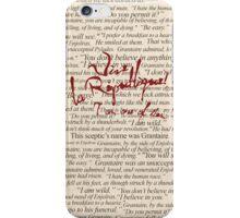 Grantaire Quotes + Vive la République iPhone Case/Skin