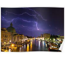 Venice lightning Poster