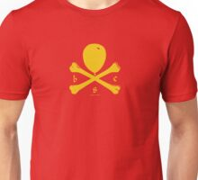 Balloon & Crossbones, Yellow Unisex T-Shirt