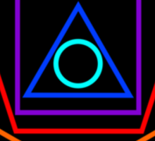Polygon Party Sticker Sticker