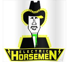 Electric Horsemen (Vintage 4) Poster