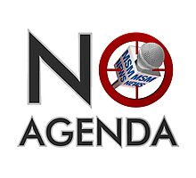 No Agenda Logo - Small Prints and Stretched Canvas Photographic Print
