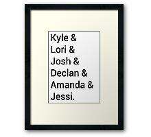 Kyle XY Jet Set Framed Print