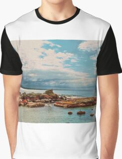 Pelican Perched on Rock Graphic T-Shirt