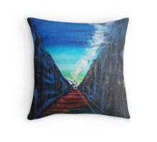 Train is Coming Throw Pillow