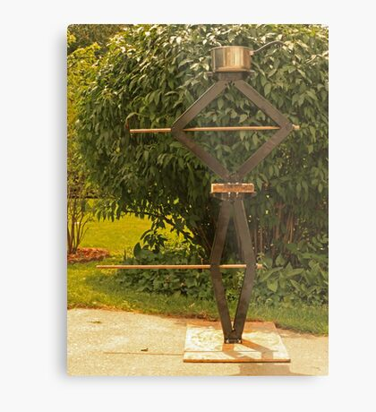 Pot Head Engineer Metal Print
