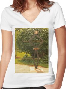 Pot Head Engineer Women's Fitted V-Neck T-Shirt