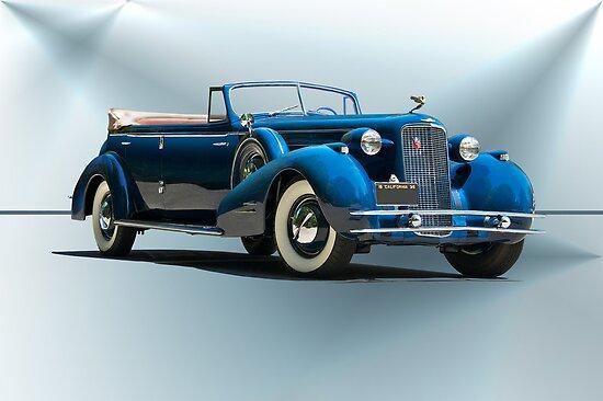 1934 Cadillac Convertible Sedan II by DaveKoontz