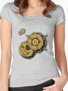 ©DA Fractal In Motion Women's Fitted Scoop T-Shirt