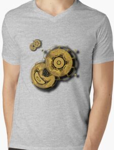 ©DA Fractal In Motion Mens V-Neck T-Shirt