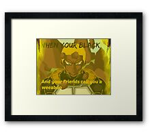How people see black anime lovers Framed Print