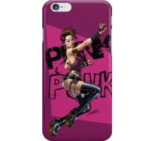 Sexy Punk Rock Pinup Girl by Al Rio iPhone Case/Skin