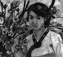 woman in garden II by mhw0508