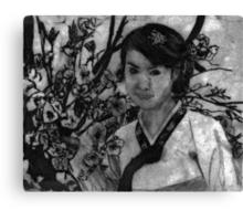 woman in garden II Canvas Print