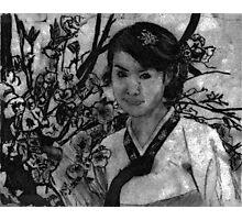 woman in garden II Photographic Print