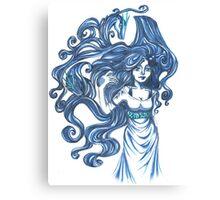 Saphire Dragons Canvas Print
