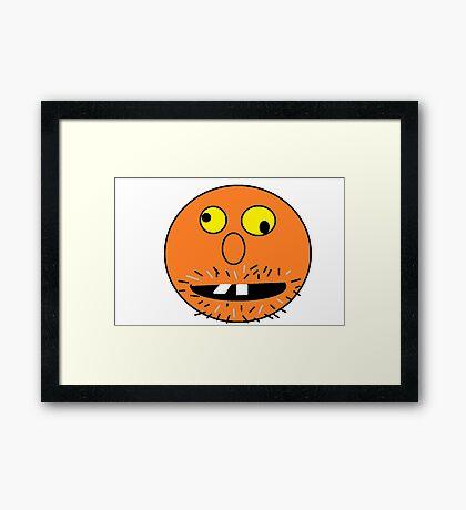 Crazy Face Framed Print